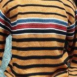 Свитер оранжевый в полоску Fanory