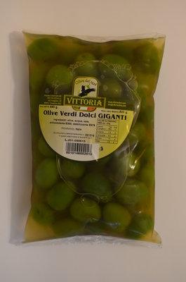 Оливки Vittoria Olive Verdi Dolci Giganti, 850г.