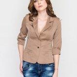 Пиджак, жакет цвета хаки, размер XS