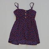Яркая и стильная майка-блуза для девочки YD, размер 8-9 лет, рост 134 см. Состояние новой вещи.