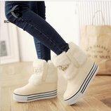 ботинки женские зимние ХИТ с мехом на платформе