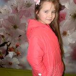 куртка пальто зимняя Villa Happ на девочку 6-7 лет отл. сост обмен