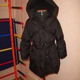 Теплое пальто Debenhams на 6-7 лет на силиконе зимнее пальто