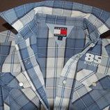 рубашка с коротким рукавом Tommy Hilfiger, голубая, рост 122