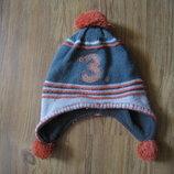 демисезонная шапка вязка флис для мальчика 2-3г.