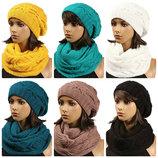 женский зимний набор шапка и шарф