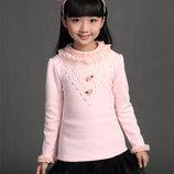 Тёплые блузки на меховушке для девочек в наличии