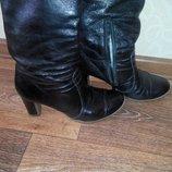 Кожаные зимние женские сапоги 40 размер