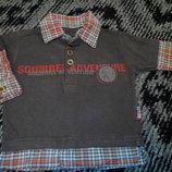 Рубашка-обманка, реглан 68-74р