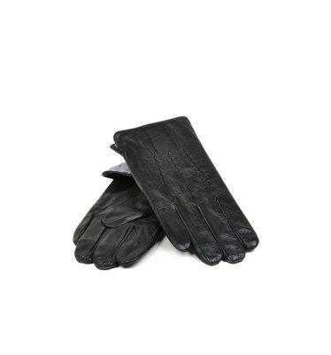 Мужские перчатки, кожа, кашемир