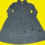 Теплое платье,на рост 110-122 см