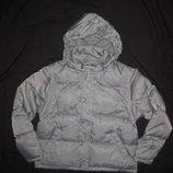 классная зимняя пуховая куртка Zara, 10-11 лет натуральный пуховик