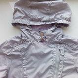 Стильная куртка ветровка косуха для девочки на весну-лето