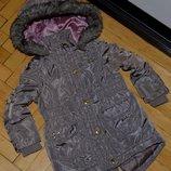 12 - 18 месяцев 86 см Обалденная парка куртка курточка девочке