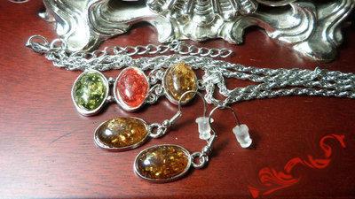 Подвеска серьги ЯНТАРЬ, покрытие серебром