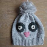 шапка зима деми 4-9 лет девочке серая теплая George Джорж новая