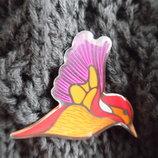 шапка берет деми 6-15 лет осень весна девочке новая H&M НМ коричневая в дырочку с птичкой