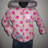 На 1,5-2 Теплая деми куртка Peppa Pig от George девочке
