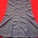 NEXT длинная клешёная юбка,джинс,сост.новой