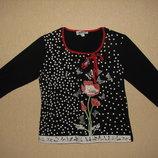 Классная хлопковая блуза Made in Italy