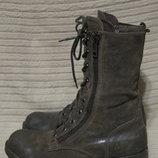 Высокие кожаные ботинки в стиле милитари Bullboxer .Германия. 42 р.