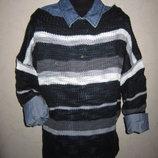 На ОГ 92-96см Женский теплый свитер рукав 3 4 Terranova M-L