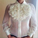 блуза деловая нарядная атлас трикотаж шифон