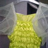 Платье на прокат осенний цветочек на 3-9 лет