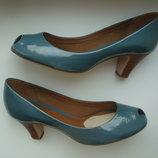 Туфли Clarks цвета морской волны размер 39-40