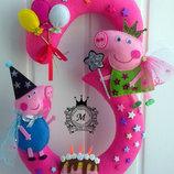 Цифры из фетра в день рождения ребенка
