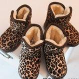 Суперовые леопардовые угги на меху