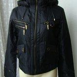 Куртка женская теплая демисезонная капюшон р.44 3882