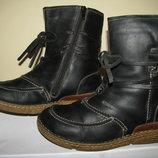 Чоботи зимові шкіряні нат. хутро JOSEF SEIBEL Top Dry Tex Оригінал Німеччина р.38