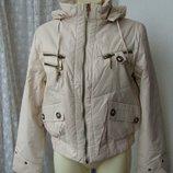 Куртка женская теплая демисезонная капюшон р.46 3893