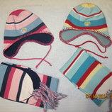 Комплекты шапка и шарф на флисе Sela, р.48-50