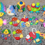 Игрушки-Погремушки, ключики, грызунки, набор игрушек Fisher Price