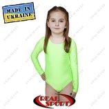 Купальники для танцев и художественной гимнастики детские Салатовый