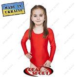 Купальники для танцев и художественной гимнастики детские размер Красный