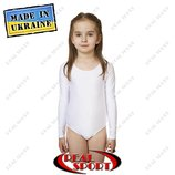 Купальники для танцев и художественной гимнастики детские. Белый