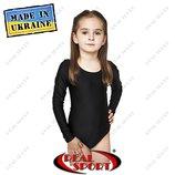 Купальники для танцев и художественной гимнастики детские. Черный