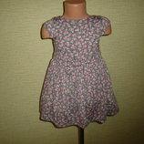 Нежное трикотажное платье на 2-3 года с пышной юбкой