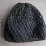 шапка берет деми 3-8 лет зима осень весна фиолетовая зеленая оригинал Salomon