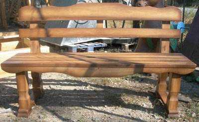 Мебель для сада, скамейки из массива сосны