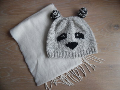 шапка берет деми 3-6 лет осень весна панда шарф комплект  115 грн ... cbbaea2995d03