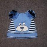 Демисезонная шапочка на мальчика 1-2 года.