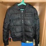Куртка черного цвета дутая р.46-48