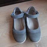 туфли мокасины балетки 21 см детские серые оригинал кожа Clarks Кларкс