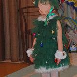 прокат карнавальный костюм платье елочка