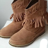 Моднячие Сапоги Сапожки БАХРОМА