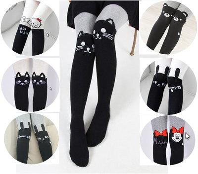 Модные хлопковые колготки с Hello Kitty, кошечками, кроликами, минимаус, мишками, р. 80-125см
